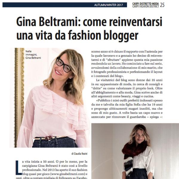 Gina Beltrami: come reinventarsi una vita da fashion blogger