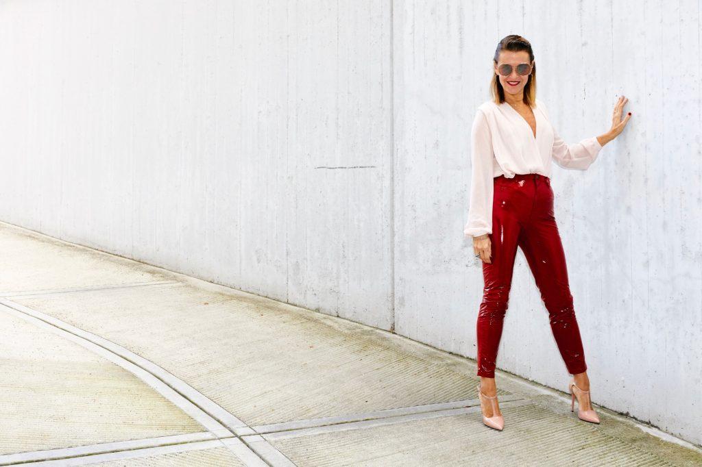 vinyl red pants 3