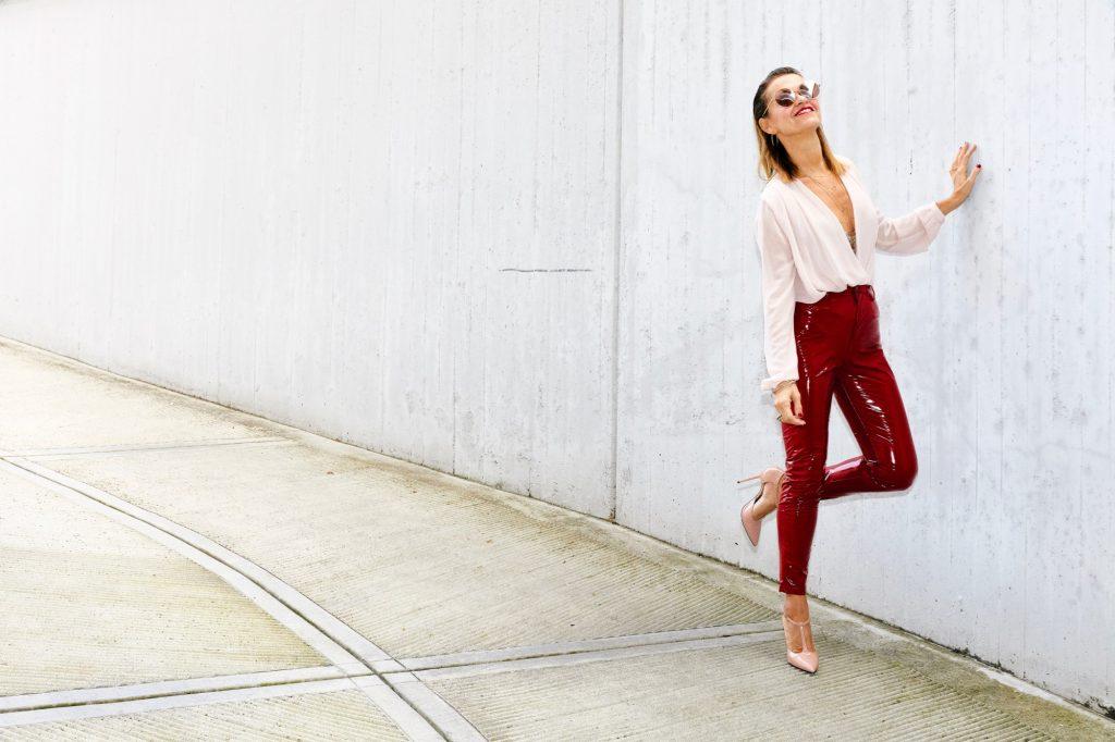 vinyl red pants 4