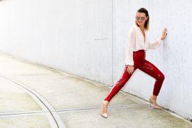 vinyl red pants 5