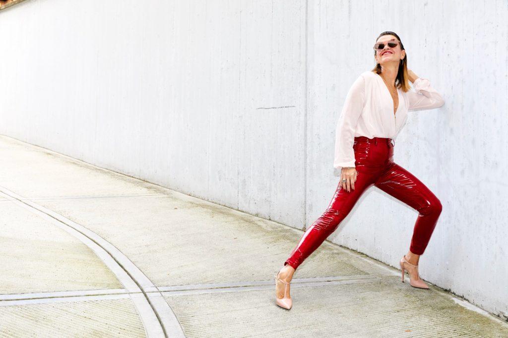 vinyl red pants 6