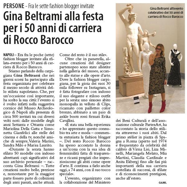 Gina Beltrami alla festa per i 50 anni di carriera di Rocco Barocco