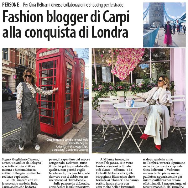 Fashion blogger di Carpi alla conquista di Londra