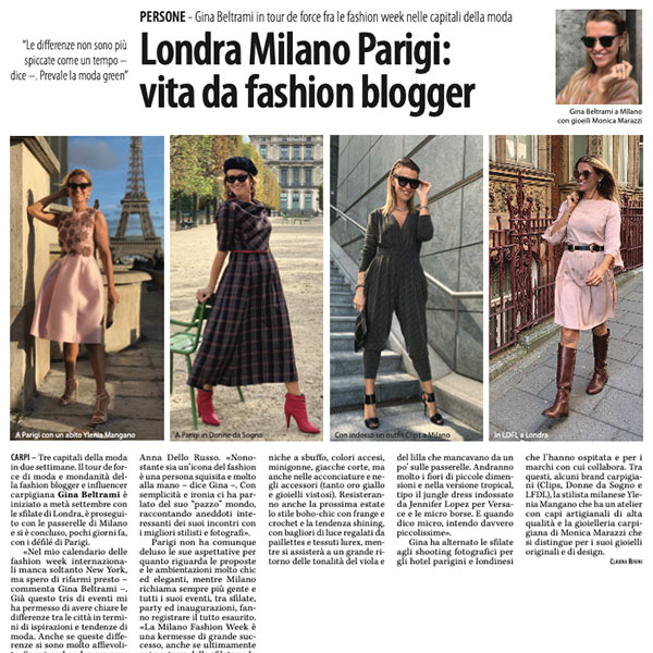 Londra Milano Parigi: vita da fashion blogger